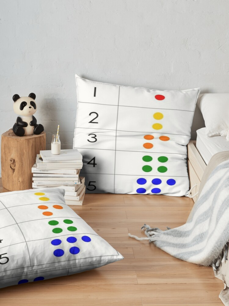 Alternate view of First grade math skills set foundation for later math ability Floor Pillow