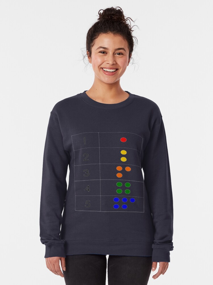 Alternate view of Math-based pictures in the everyday baby environment set a foundation for later math ability Pullover Sweatshirt