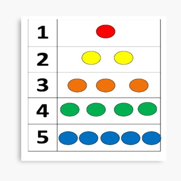 Math-based images in everyday children's setting lay the foundation for subsequent mathematical abilities Canvas Print