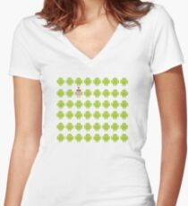 Where's Waldroid advanced Women's Fitted V-Neck T-Shirt