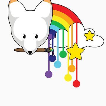 Fox : paint a rainbow by Alopex