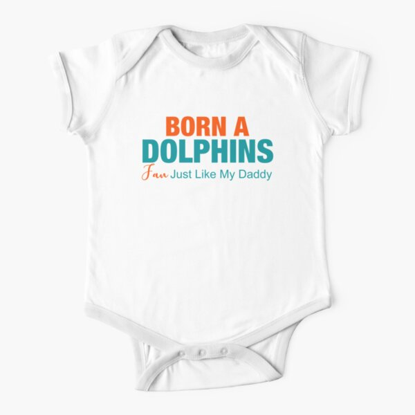 Born A Dolphins Fan Short Sleeve Baby One-Piece