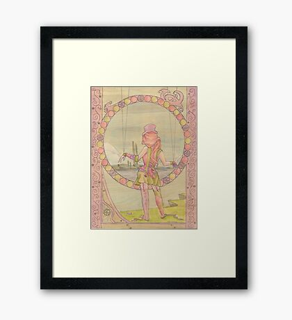 Steampunk Marionette Framed Print