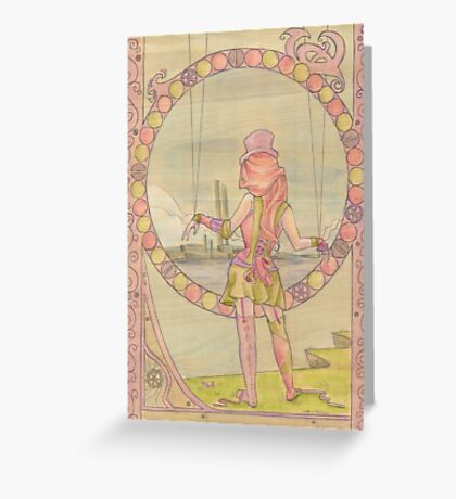 Steampunk Marionette Greeting Card