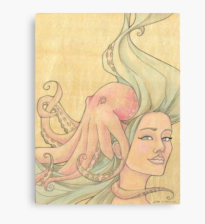 The Octopus Mermaid 7 Canvas Print