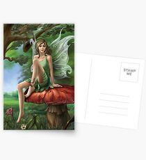 Fairy Tales in Forest Postcards
