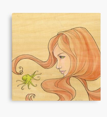 The Octopus Mermaid 1 Canvas Print