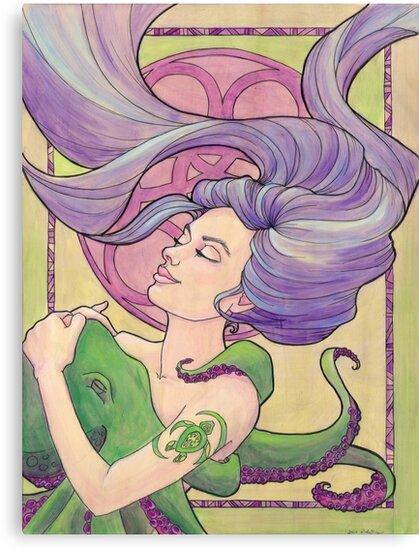 Tattooed Mermaid 9 by Karen  Hallion