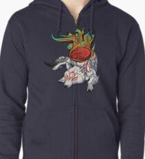 Okami - Amaterasu Rests Zipped Hoodie