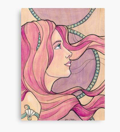 Tattooed Mermaid 5 Canvas Print