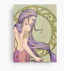 Tattooed Mermaid 3 Canvas Print