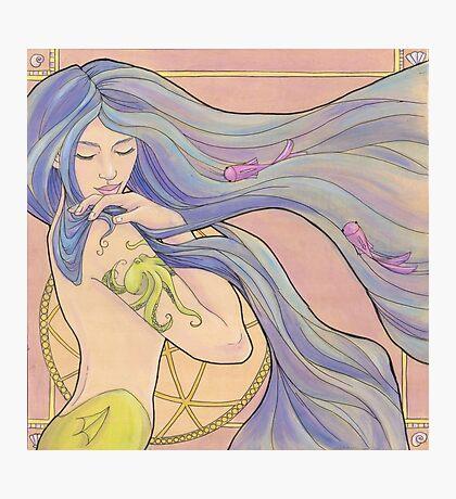 Tattooed Mermaid 1 Photographic Print