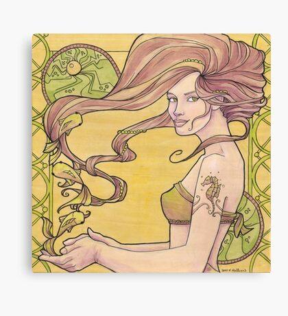 Tattooed Mermaid 2 Canvas Print