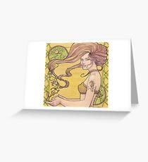 Tattooed Mermaid 2 Greeting Card
