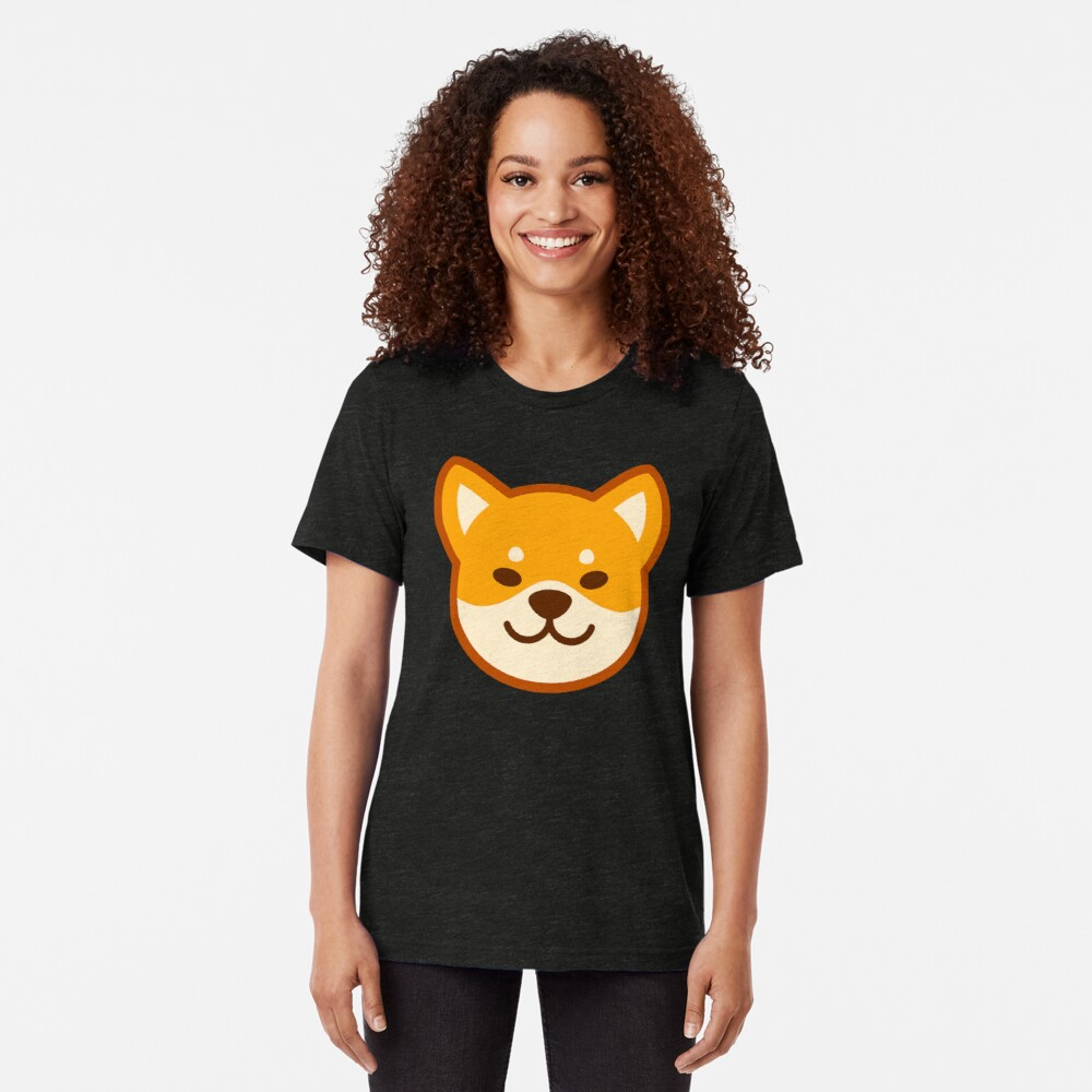 Gold Shiba: Purple Bone Tri-blend T-Shirt