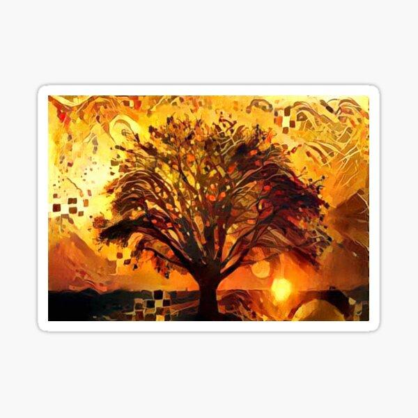 Golden Evenin Amber Sticker