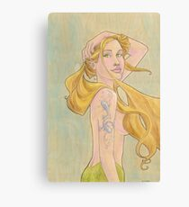 Tattooed Mermaid Canvas Print