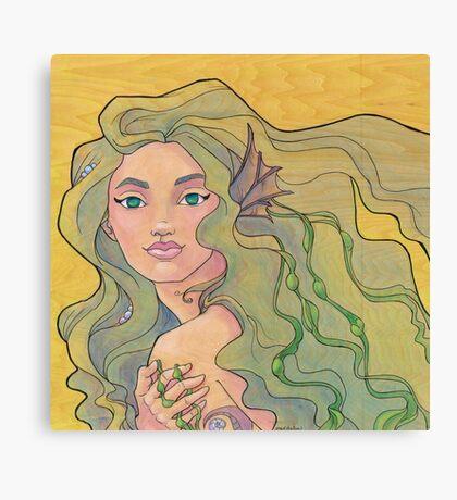 Tattooed Mermaid 12 Canvas Print