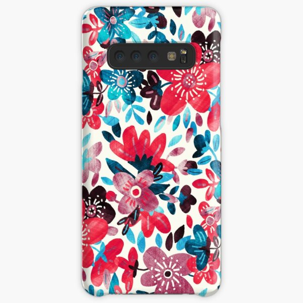 Happy Red Flower Collage Samsung Galaxy Snap Case