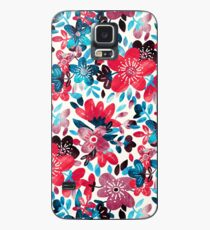 Happy Red Flower Collage Case/Skin for Samsung Galaxy