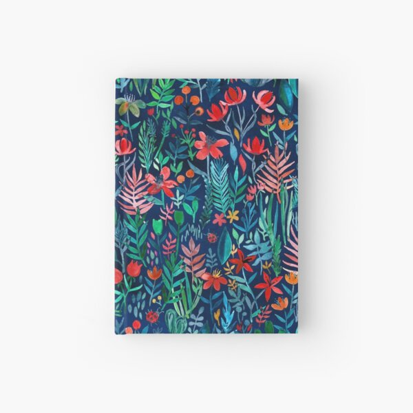 Tropical Ink - a watercolor garden Hardcover Journal