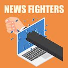 News Fighters: the podcast t-shirt by Dylan Behan