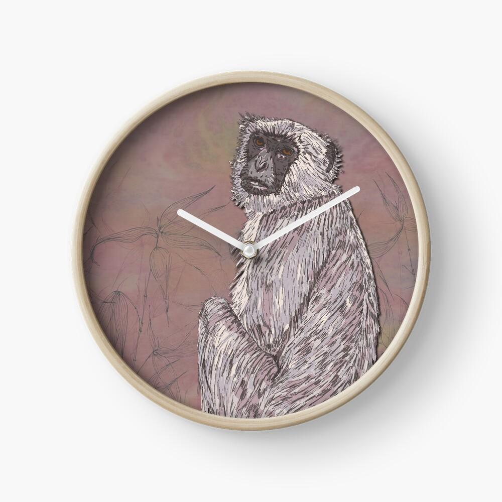 Gray Langur Monkey Clock