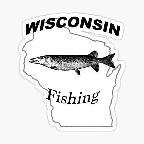 Wisconsin Musky Fishing Design Sticker