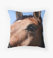 Portrait of a Horse, I Throw Pillow
