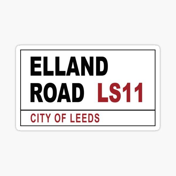 Elland Road Street Sign Sticker