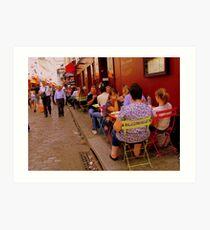 Street life in Montmartre, Paris! Art Print