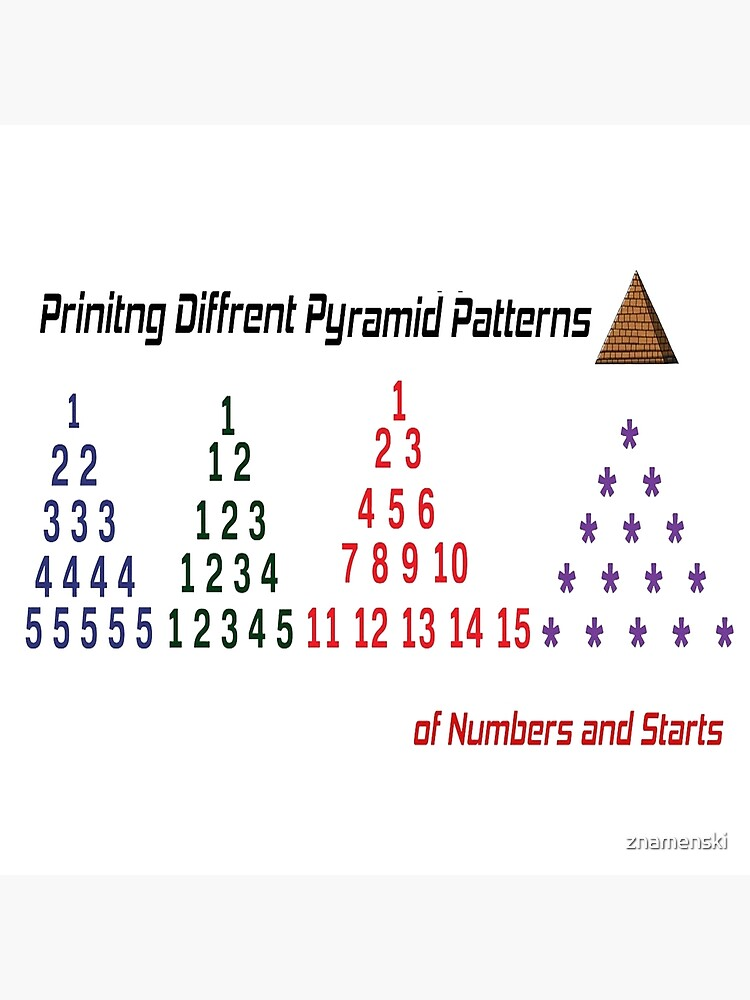 Printing Different Pyramid Patterns by znamenski