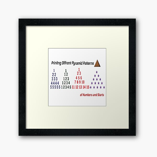 Printing Different Pyramid Patterns Framed Art Print