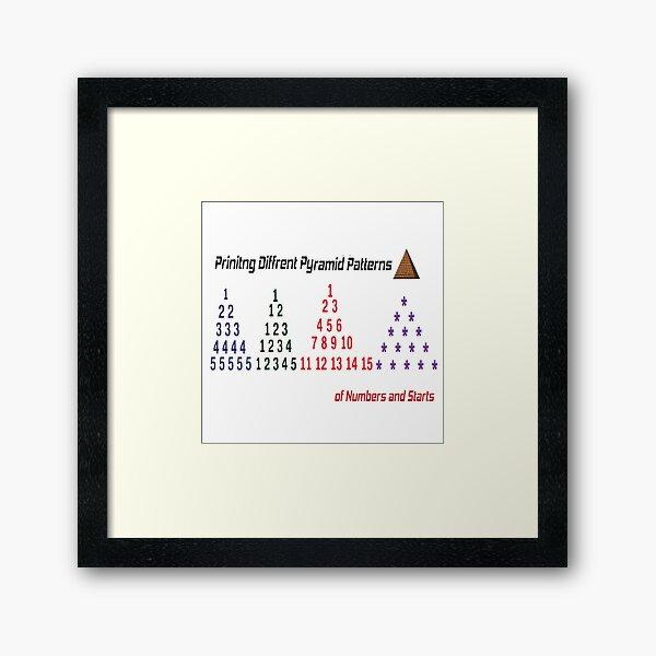 Printing Different Pyramid Patterns Framed Art Print