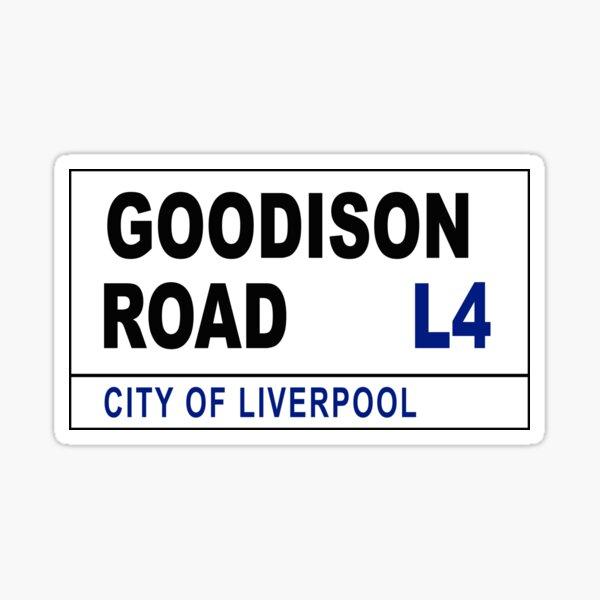 Goodison Road Street Sign Sticker