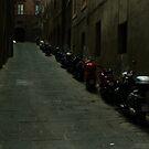 Siena Vespas by Sam Mortimer