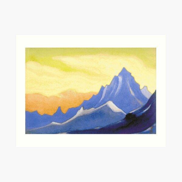 The Himalayas (Sonata overhead paint) Nicholas Roerich Painting, 1946, 30.2×45.6 cm Art Print