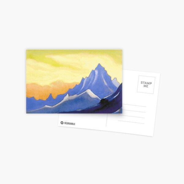 The Himalayas (Sonata overhead paint) Nicholas Roerich Painting, 1946, 30.2×45.6 cm Postcard