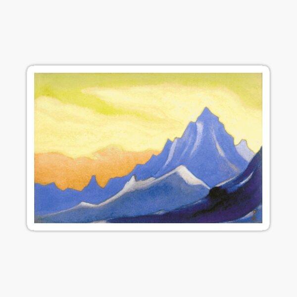 The Himalayas (Sonata overhead paint) Nicholas Roerich Painting, 1946, 30.2×45.6 cm Sticker