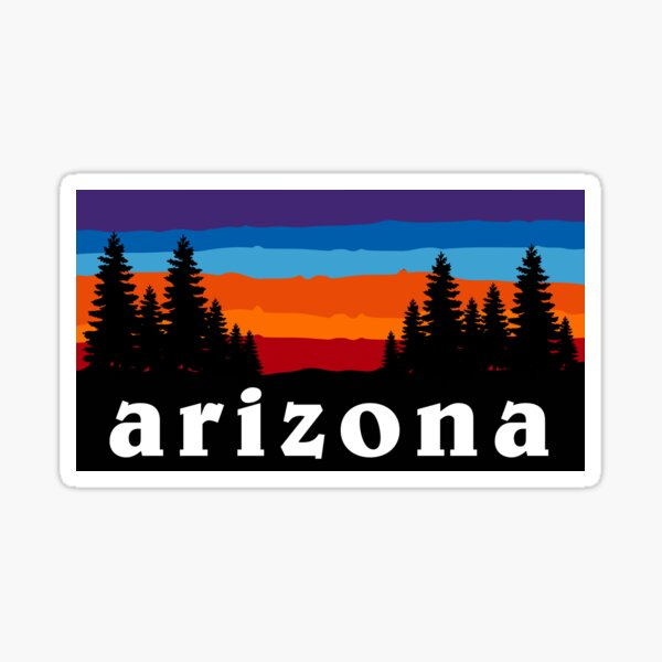 Arizona Forest Camping Mountain Sunset Grand Canyon National Park Gift Ideas Sticker