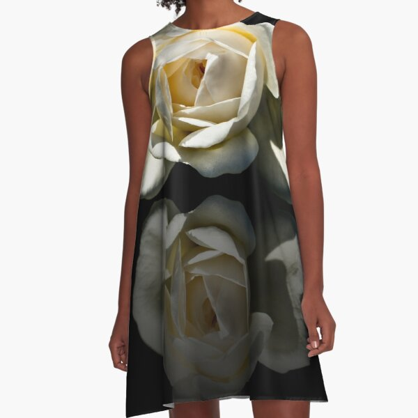 Reflection Of A White Rose A-Line Dress