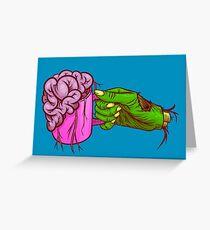 Zombie Coffee Greeting Card
