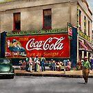 City - Greensboro GA - Hunter's Drug Store 1939 by Michael Savad
