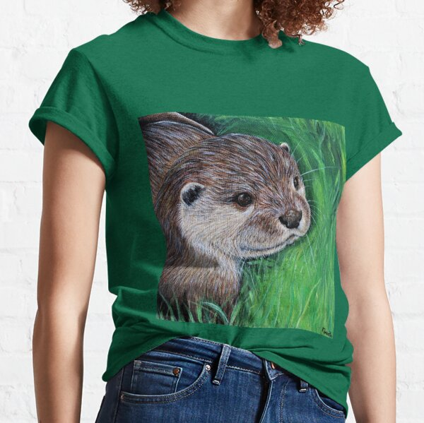 Little River Otter Painting Classic T-Shirt