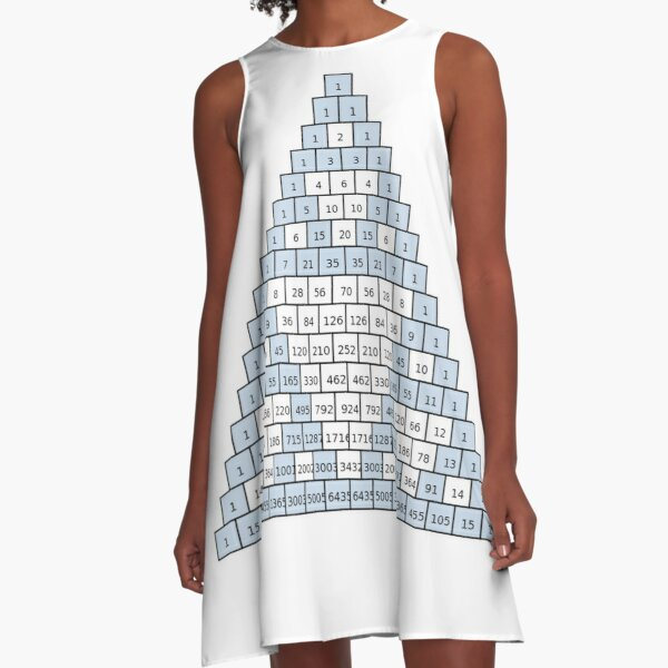 Math-based images in everyday children's setting lay the foundation for subsequent mathematical abilities. Pascal's Triangle,  треугольник паскаля, #PascalsTriangle,  #треугольникпаскаля A-Line Dress