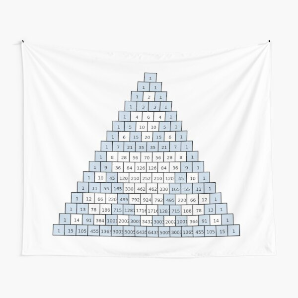 Math-based images in everyday children's setting lay the foundation for subsequent mathematical abilities. Pascal's Triangle,  треугольник паскаля, #PascalsTriangle,  #треугольникпаскаля Tapestry