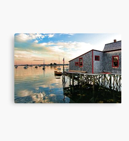 Boothbay Harbor Footbridge Canvas Print