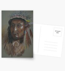 Crazy Thunder-American Indian Chief Postcards
