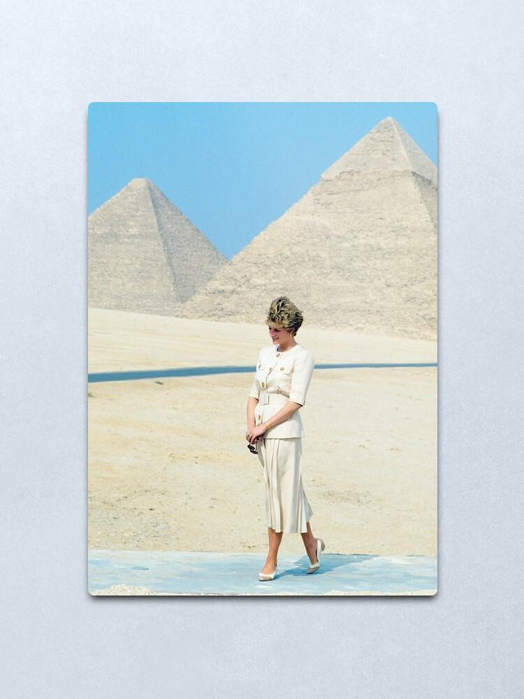 Alternate view of Princess Diana Egypt 1992 Metal Print