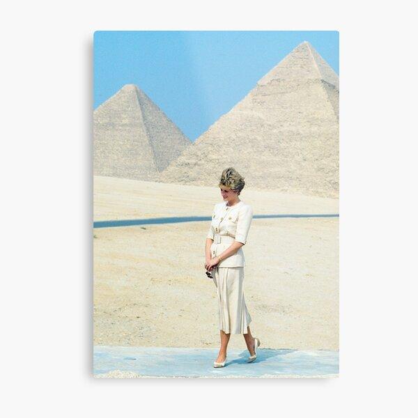 Princess Diana Egypt 1992 Metal Print